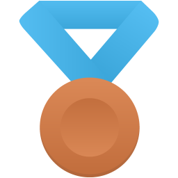 Bronze metal blue icon
