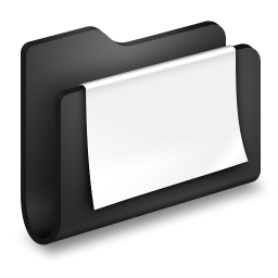 文書の黒のフォルダアイコン ぶんしょのくろのふぉるだあいこん Ico Png Icns 無料のアイコンをダウンロード