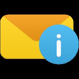 電子メールの情報アイコン でんしめ るのじょうほうあいこん Ico Png Icns 無料のアイコンをダウンロード