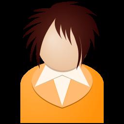 オレンジの女の子アイコン おれんじのおんなのこあいこん Ico Png Icns 無料のアイコンをダウンロード