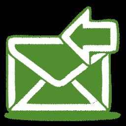 グリーンメール受信アイコン ぐり んめ るじゅしんあいこん Ico Png Icns 無料のアイコンをダウンロード