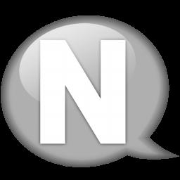 スピーチ バルーンの白いnアイコン すぴ ち ばる んのしろいnあいこん Ico Png Icns 無料のアイコンをダウンロード