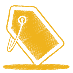 黄色のタグのアイコン きいろのたぐのあいこん Ico Png Icns 無料のアイコンをダウンロード