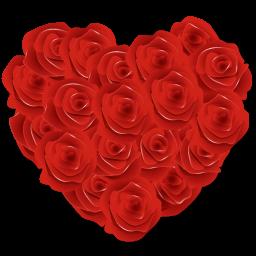 バラの花の心のアイコン ばらのはなのこころのあいこん Ico Png Icns 無料のアイコンをダウンロード