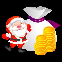 サンタのお金アイコン さんたのおかねあいこん Ico Png Icns 無料のアイコンをダウンロード