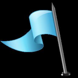 マップマーカーフラグ3空色のアイコンを左 まっぷま か ふらぐ3そらいろのあいこんをひだり Ico Png Icns 無料のアイコンをダウンロード