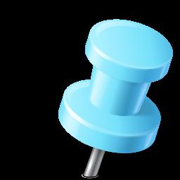 マップマーカーのプッシュピン2の右の空色のアイコン まっぷま か のぷっしゅぴん2のみぎのそらいろのあいこん Ico Png Icns 無料の アイコンをダウンロード