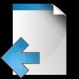 文書の矢印アイコンを左 ぶんしょのやじるしあいこんをひだり Ico Png Icns 無料のアイコンをダウンロード