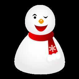 雪だるまのアイコンウィンク ゆきだるまのあいこんうぃんく Ico Png Icns 無料のアイコンをダウンロード