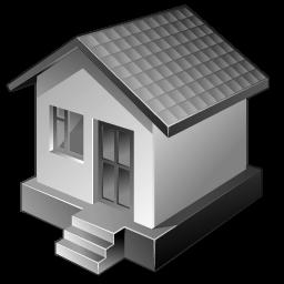3つの灰色の家のアイコン 3つのはいいろのいえのあいこん Ico Png Icns 無料のアイコンをダウンロード
