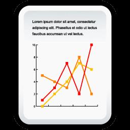 文書の線グラフのアイコン ぶんしょのせんぐらふのあいこん Ico Png Icns 無料のアイコンをダウンロード